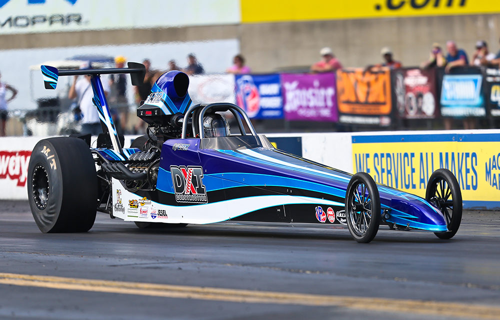 DJ Cox Shows He Can Handle a Dragster